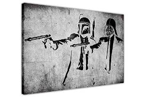 Banksy Star Wars Pulp Fiction Print Canvas