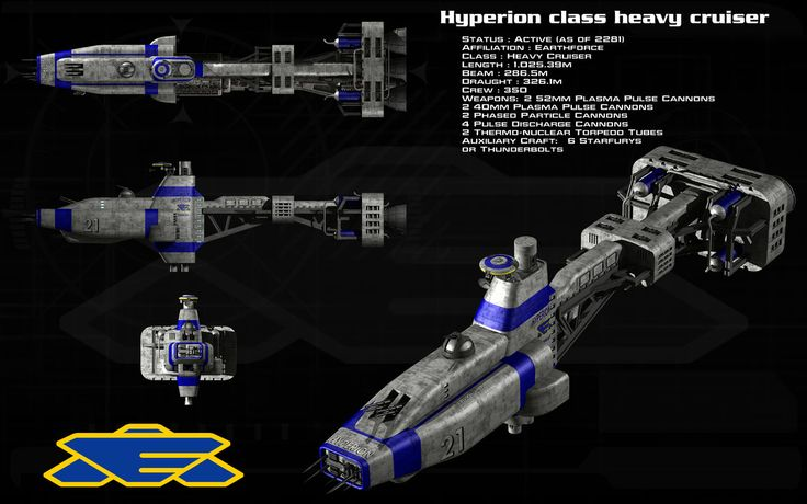 Earth Alliance - Hyperion Class Heavy CruiserEarth Alliance - Hyperion Class Heavy Cruiser