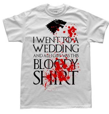 Red Wedding Game Of Thrones T-Shirt