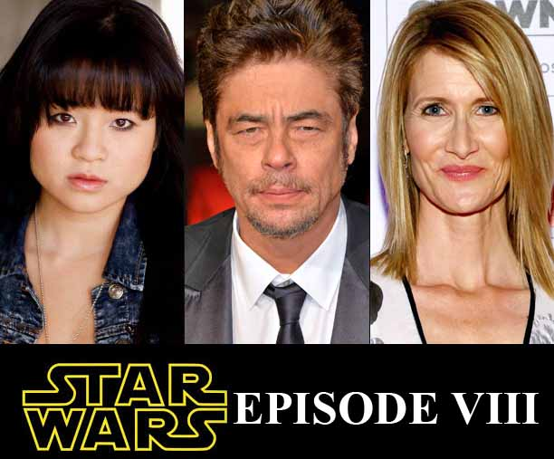 Benicio Del Toro, Lara Dern and Kelly Marie Tran confirmed for Star Wars episode VIII